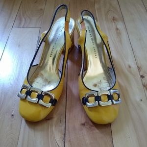 Marc Jacobs Yellow Patent Leather Heels 37